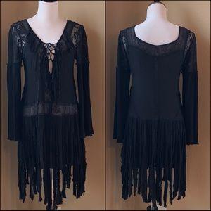 Free People Witch like Flowy Swing Lace Dress SM